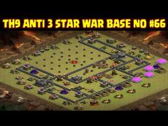 Clash of Clans | Town Hall 9 Anti 3 Star War Base | Layout 66