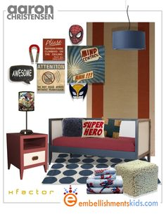 Embellishments Kids: Boys Rooms and Nursery Ideas - 15 Mood Boards For Boys