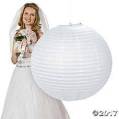 Jumbo White Party Lantern. From weddings to bridal showers to casual winter get-togethers, this Jumbo White Party Lantern is an excellent addition to your ...
