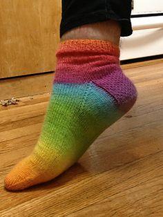 Simple Chroma Top-Down Socks by Mary Anna Yram