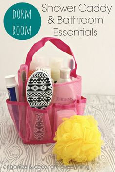 Dorm Room Shower Caddy and Bathroom Essentials (a checklist) and organizing…