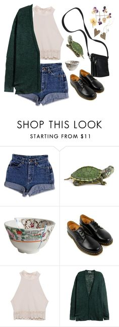 """""""turtle turtle"""" by paper-freckles ❤ liked on Polyvore featuring Seletti, Dr. Martens, LA: Hearts, H&M, women's clothing, women's fashion, women, female, woman and misses"""