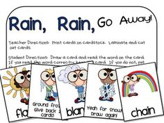 Long vowel activity.  Students pick the sound in the word and if they are correct, they get to move spaces up on the board. Instructions and the board game are all included on this website.