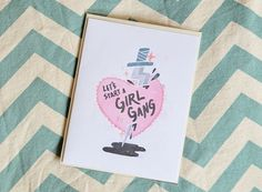 A4 Greeting Card - Let's Start A Girl Gang