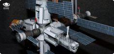 Baza orbitalna Salut 4 + Sojuz 18 – darmowy model – Gniazdo Światów – Bartek Biedrzycki Free Paper Models, Vacuums, Home Appliances, House Appliances, Vacuum Cleaners, Paper Templates, Appliances