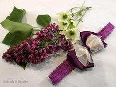 Purple Double Bow Shabby Chic Frilly Edge by GabrielasGarden, £7.50