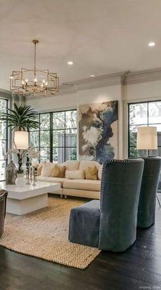 New living room white walls ideas Living Room White, Living Room Paint, Formal Living Rooms, Living Room Modern, Rugs In Living Room, Modern Wall, Modern Decor, Rustic Modern, Modern Interior