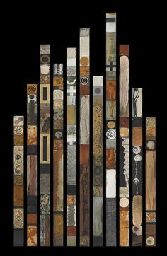Best Selling Industrail MiniSoul Totems Grouping of Natural Rustic Decor Wall Elements BoHo Cabin Abstract Mid-Century Modern tall - Assemblage Art Tin Tiles, Tin Ceiling Tiles, Totems, Painted Sticks, Art Mural, Wood And Metal, Aged Wood, Wood Art, Wall Wood