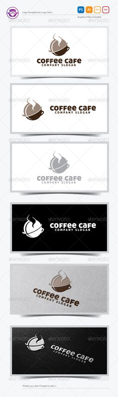 Coffee Cafe Logo Template is An excellent logo template highly suitable for logo company, office, organization, cafe, restaurant,
