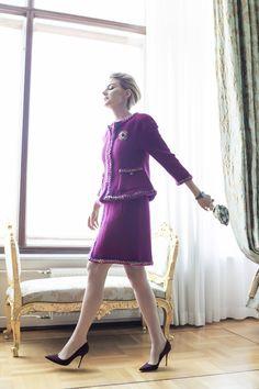 Renata Litvinova in Chanel Fall 2014 for Elle Russia #carreraycarrera