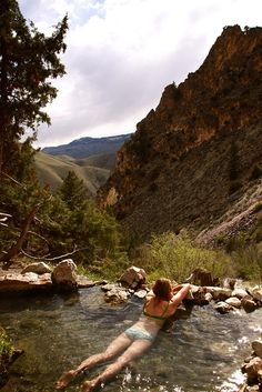 Goldbug hot spring, Idaho. This reminds me of the time I went to the hot springs in North West New Mexico. Perfect.