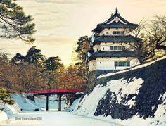 Japanese Castle In Winter