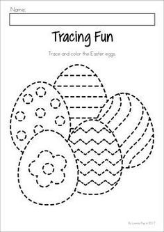 Easter Preschool No Prep Worksheets & Activities. Easter egg tracing and colorin. Easter Worksheets, Easter Printables, Tracing Worksheets, Preschool Worksheets, Easter Activities For Preschool, Easter Arts And Crafts, Easter Coloring Pages, Easter Eggs, Kindergarten Prep