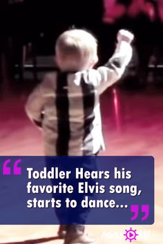 William took his parents by surprise when he suddenly ran out the middle of a dance floor to bust a move. The tiny tyke stole the show with an impromptu dance to the beat of his favorite Elvis Presley rock tune, Jailhouse Rock. Cutest thing ever! Dance Music Videos, Music Songs, Funny Babies, Funny Kids, Elvis Presley, Got Talent Videos, Toddler Dance, Dancing Baby, Kids Dancing
