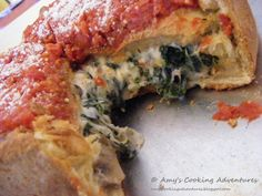 "Chicago Style Stuffed Pizza – ""Popeye Special"""