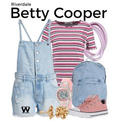 Inspired by Lili Reinhart as Betty Cooper on Riverdale. Discover outfit ideas for made with the shoplook outfit maker. How to wear ideas for Gold Tone Flower Stud and Betty Cooper Style, Betty Cooper Aesthetic, Betty Cooper Outfits, Tv Show Outfits, Fandom Outfits, College Outfits, Betty Cooper Riverdale, Riverdale Betty, Spring Outfits Women