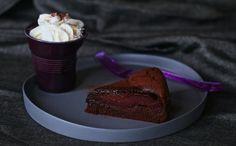 Spiced Poached Pear and Chocolate Hazelnut Cake