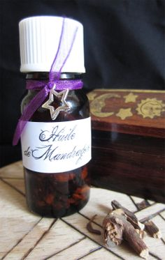 Mandrake Oil Ritual Pagan Magic Wicca Ritual Witchcraft Spell Love. €5.50, via Etsy.