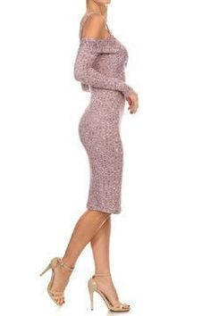 Shoptiques Product: Pink Rib Knit Dress