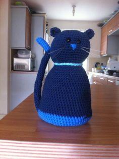 Crochet Cat doorstop
