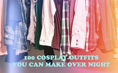 Cosplay costumes that are probably already in your closet! Last minute cosplay? Epic Cosplay, Comic Con Cosplay, Cosplay Diy, Casual Cosplay, Amazing Cosplay, Halloween Cosplay, Cosplay Ideas, Comic Con Costumes, Diy Costumes