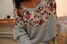 Cute way to spice up a plain crew neck sweater!