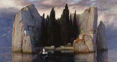 """Arnold Böcklin - """"La isla de los muertos"""" (1883, óleo sobre lienzo, 150 x 80 cm, Alte Nationalgalerie, Berlín) """"La isla de los muertos"""" del pintor simbolista Arnold Böcklin es una obra fascinante, llena de silencio, magia y misterio, y con ese..."""