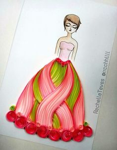 Drawing of girl with dress