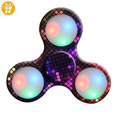 Erwachsene Spielzeug LED Licht Fidget Hand Spinner Fidget Spielzeug Finger Ball für Autismus Suffer Langeweile Stress Reducer Spielzeug (B) - Fidget spinner (*Partner-Link)