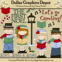 Let's Go Caroling - Clip Art - $1.00 : Dollar Graphics Depot, Quality Graphics ~ Discount Prices