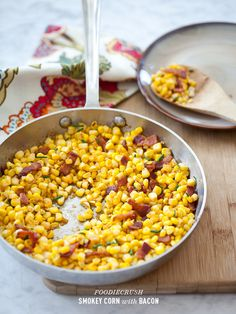 Paprika Corn and Bacon from FoodieCrush.com