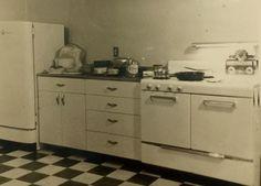Vintage c1950s Mid Century Modern House Kitchen Interior Snapshot Photo