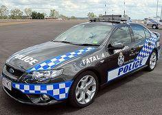 Queensland Police.  Australia.  Ford BF XR6 Turbo Highway Patrol Sedan ★。☆。JpM ENTERTAINMENT ☆。★。