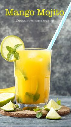 Mojito is a traditional Cuban cocktail, made of 5 ingredients- mint, sugar, lime juice, white rum and club soda. Refreshing Drinks, Summer Drinks, Fun Drinks, Healthy Drinks, Beverages, Non Alcoholic Drinks, Cocktail Drinks, Cocktail Recipes, Mango Cocktail