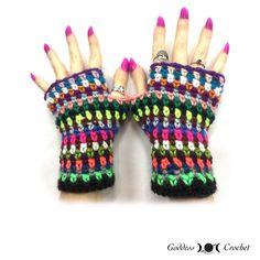 Scrap Buster Fingerless Gloves | AllFreeCrochet.com