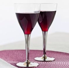 Mozaik 100 Disposable Plastic Wine Glasses with Silver Stem by Sabert #Sabert #AllOccasions