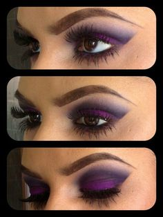 Purple smokey eye make up All Things Beauty, Beauty Make Up, Love Makeup, Makeup Looks, Gorgeous Makeup, Makeup Geek, Basic Makeup, Concealer, Maquillage Yeux Cut Crease