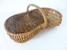 Vintage French, Small Wicker, Buttocks, Gathering, Basket by PoitouBrocante on Etsy French Baskets, Raising Chickens, How To Make Bread, Glass Jars, French Vintage, Wicker, Etsy, Glass Pitchers, How To Bake Bread