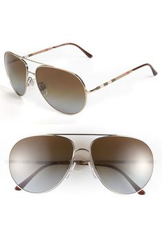 dc69db30f65d1 Burberry Polarized Aviator Sunglasses available at  Nordstrom Polarized  Aviator Sunglasses