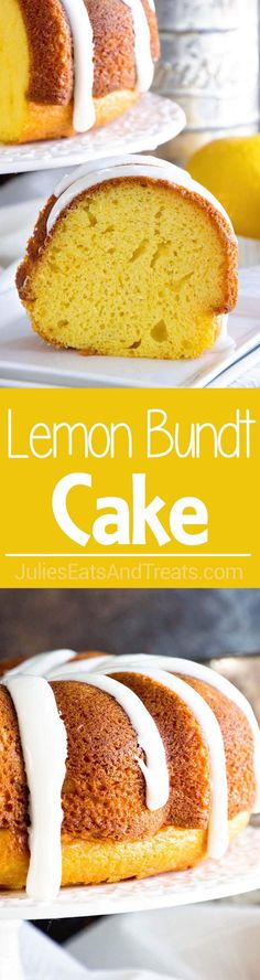 Lemon Bundt Cake with Lemon Frosting ~ Tender, Homemade Lemon Pound Cake with a Delicious Lemon Frosting!  via /julieseats/