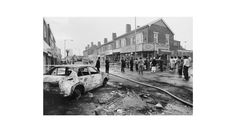 The aftermath of the Riots, Handsworth, Birmingham (Vanley Burke, 1985)