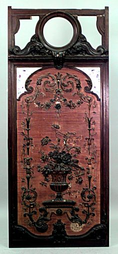 French Victorian architectural element paneling walnut