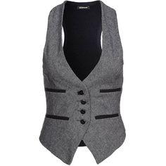 Denham MAJOR Waistcoat ($130) ❤ liked on Polyvore featuring outerwear, vests, tops, jackets, blue, gilets &amp waistcoats, women's outerwear, waistcoat vest, vest waistcoat and denham