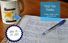 Darcie's Dishes: Meal Plan Monday: 6/19-6/25/17 ~ A one week meal plan that includes all meals, snacks and drinks. The menu is printable and has a printable shopping list as well. Everything is 100% THM compliant.
