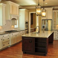 Spaces Cream Cabinets Dark Walls Design, Pictures, Remodel, Decor and Ideas - page 6