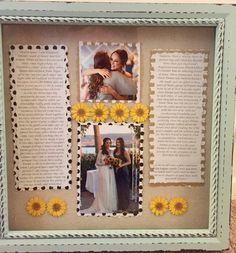 Maid of honor speech frame. After wedding gift to bride from maid of honor