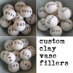 clay vase filler balls - made for you. $18.00, via Etsy.