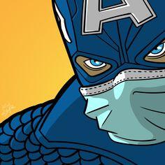 Use face mask and have fun! Chibi Marvel, Marvel Art, Marvel Comics, Capitan America Comic, Superhero Pop Art, Batman Pop Art, Disney Pop Art, Mundo Marvel, Futuristic Art