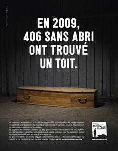 Campagne choc de sensibilisation du collectif Les morts dans la rue