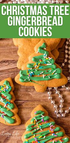 This Christmas Tree Gingerbread Cookies Recipe is such a fun Christmas cookie recipe to cook up! Share these tasty cookies with your family and friends! Decorate these festive cookies with your kids for a fun family activity or DIY gift idea for friends. #Christmascookies Gingerbread Christmas Tree, Christmas Tree Cookies, Christmas Treats, Gingerbread Cookies, Tasty Cookies, Ginger Bread Cookies Recipe, Easy Holiday Cookies, Cookies For Kids, Homemade Gift Boxes